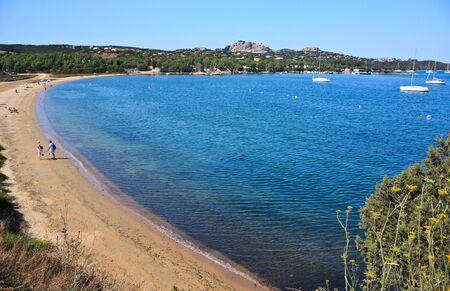 sardinia: Travel Series. Beach Of Punta Saline  in the Gulf of Saline, Sardinia, Italy