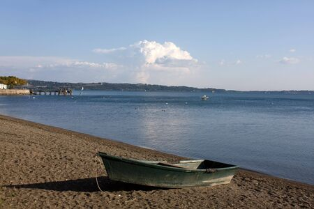 Travel Series. Trevignano Romano on Bracciano lake, Lazio, Italy. photo