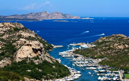 Travel Series - Italy. Marvelous view above Poltu Quatu, Sardinia, Italy.