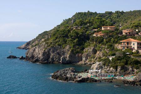 promontory: Travel Series - Italy. Promontory on the sea, Talamone, Tuscany.