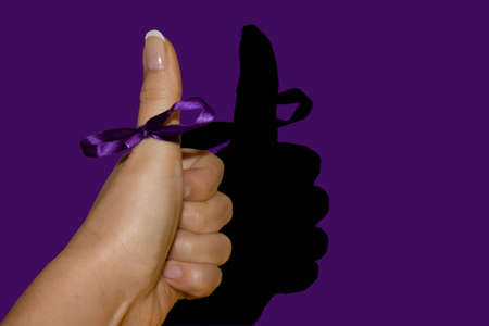 Concepts & Ideas - Woman hand expressing a victory or achievement concept. Stock Photo - 6921070