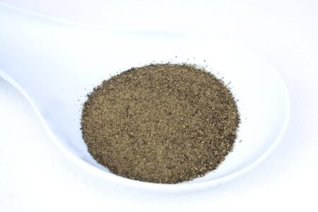Food & Drinks - Condiments - Black ground pepper. Stock Photo - 6921222