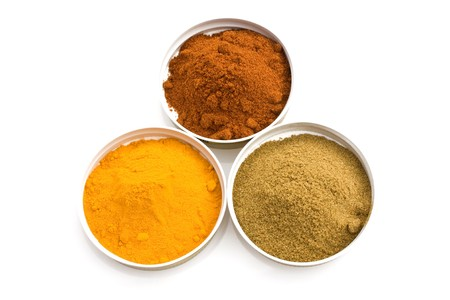 Food & Drinks - Spices: turmeric, cumin and sweet paprika. Stock Photo - 7018870