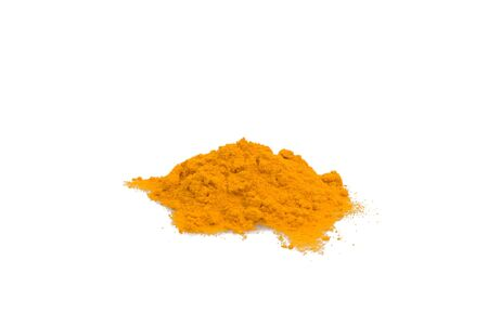 Food & Drinks - Spices - Ground turmeric isolated on white background. Stock Photo - 7018439