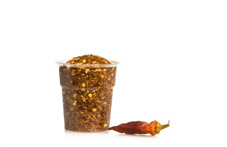 Food & Drinks - Spices - Dried hot chili peppers. Stock Photo - 7018468