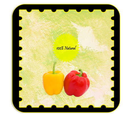 alimentary: Labels - Personalizable label for alimentary products - peppers. English language.