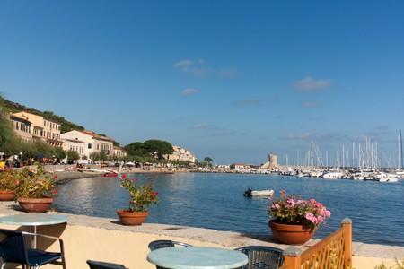 Small terrace with view on the sea - Marciana Marina, Elba, Italy.