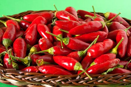 Food - Vegetables - Closeup of red chili peppers. Stock Photo - 7965050