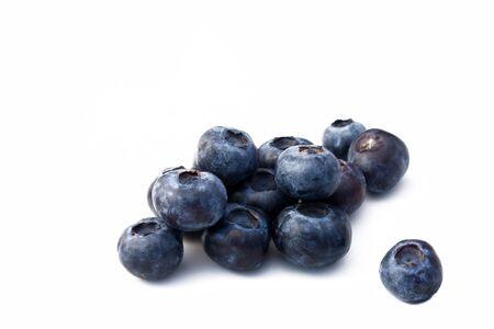 Fruits - Blueberries isolated on white background. Stock Photo