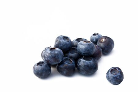 Fruits - Blueberries isolated on white background. Archivio Fotografico