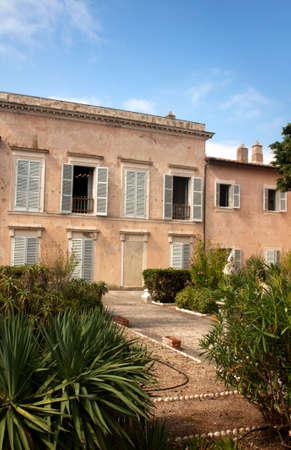Front side of Villa Dei Mulini, Napoleon's residence at Portoferraio, Elba Island, Italy.