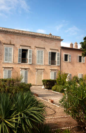 Front side of Villa Dei Mulini, Napoleon's residence at Portoferraio, Elba Island, Italy. Stock Photo - 8105651