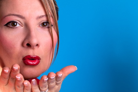 People - Portraits - Caucasian woman sending kiss. Stock Photo - 8678495