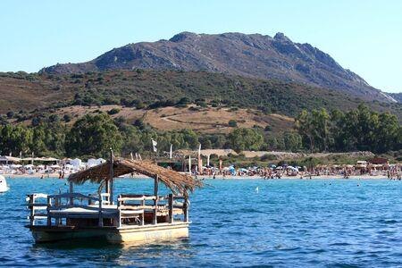 Beach in Golfo Di Marinella, Sardinia, Italy.