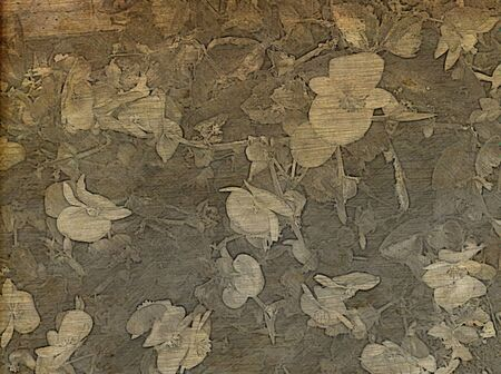 Artistic backgrounds - Old fashioned sepia floral background. Stock Photo - 9871220