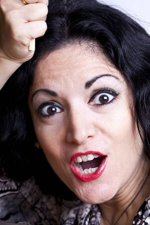 Woman with excited expression. Stock Photo - 11859113