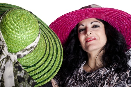 Fashion - Two women wearing hats, one from the front and one from the back. Stock Photo - 11859121