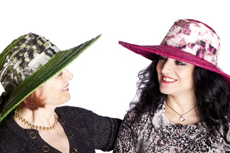 Portrait of two women with hat. Stock Photo - 11859067