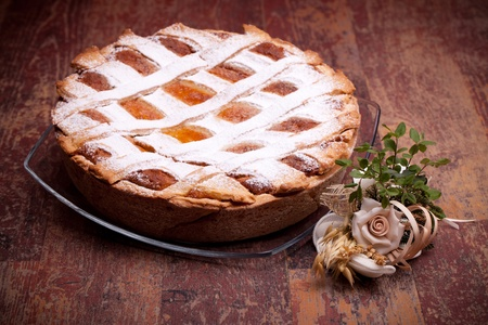 International Cuisine - Desserts - Neapolitan Pastiera . Pastiera is a wheat and ricotta pie that is also known as Pizza Gran. photo