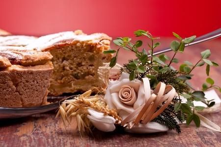 neapolitan: International Cuisine - Desserts - Neapolitan Pastiera . Pastiera is a wheat and ricotta pie that is also known as Pizza Gran.
