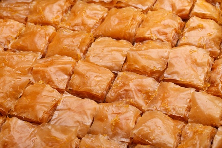 Closeup Of Fresh Baklava Cut. Baklava Is A Traditional Sweet ...