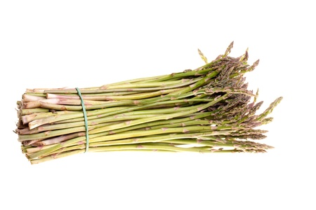 Vegetables - Bunch of asparagus isolated on white background. photo