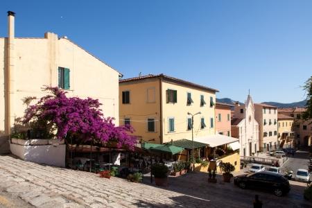 Repubblica Square view from Cosimo De Medici Climb, Portoferraio, Elba Island, Tuscany, Italy  photo