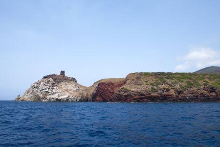 capraia: Part of Capraia Island in Tuscan Archipelago, Italy.