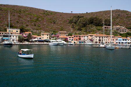capraia: Nice view of Capraia Marina, Tuscan Archipelago, Italy