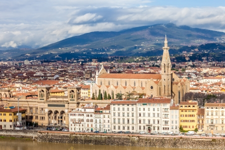 Vue de la basilique Santa Croce � Florence, Italie photo
