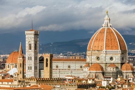 View of Basilica Santa Maria del Fiore in Florence, Italy