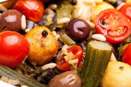 stewed: Macro of mixed stewed vegetables