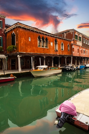 glimpse: Colorful sight of Murano at sunset