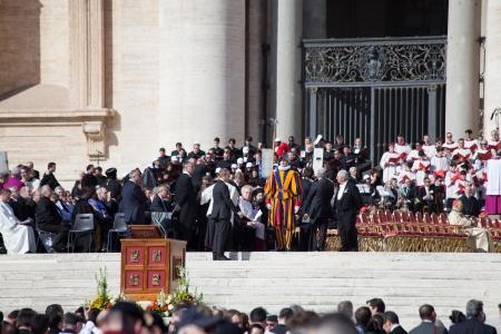 feestelijke opening: Rome, Italië - 19 maart: Paus Francis inauguratie massa - 19 maart 2013 in Rome.