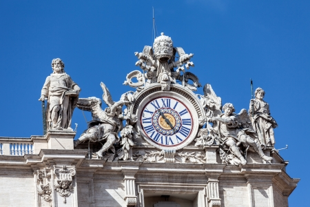 piter: Architectural detail with clock on the top of St  Piter