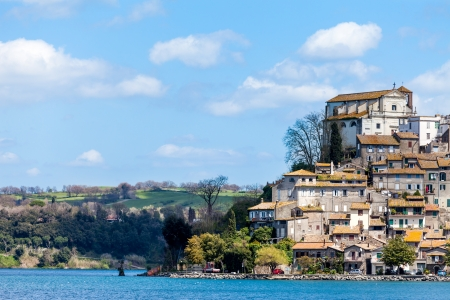 The small town of Anguillara Sabazia on Bracciano Lake in Lazio, Italy