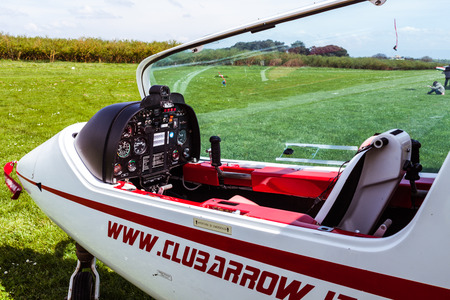 airplane ultralight: SUTRI, LAZIO, ITALY - APRIL 6, 2014:  Sky Arrow 450TTS ultralight airplane, at La Valicella airfield. The Sky Arrow 450TTS is an out-standing personal aircraft designed and manufactured in Italy by Iniziative Industriali Italiane (Meteor) S.p.A., a comp