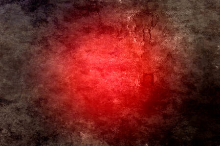 bright center: Abstract red background for Christmas with bright center spotlight, black vignette and grunge texture.