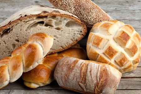 Mix of Italian breads fresh baked. photo