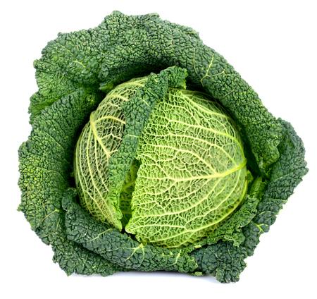 savoy cabbage: Savoy cabbage isolated on white background.
