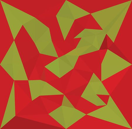 complementary: Geometric low poly background in complementary colors