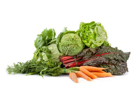 comida: Mix de legumes frescos: alface, repolho, br Imagens