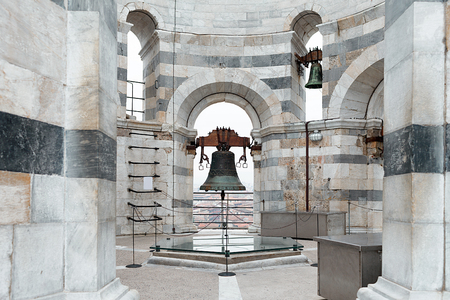 campo dei miracoli: Old bell of the leaning tower in Pisa, Tuscany, Italy.