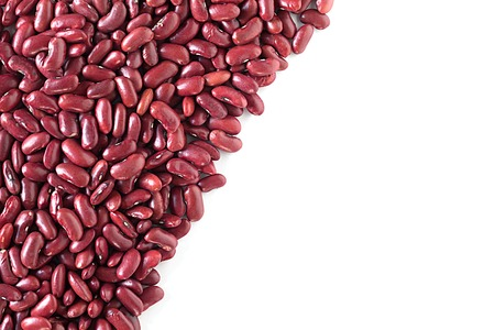 rajma: Kidney beans over white background with copy space.