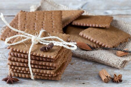 bounded: Swedish spiced biscuits bounded with kitchen string.