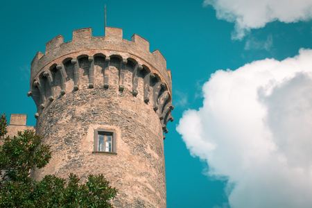 lazio: Tower of castle Odescalchi in Bracciano, Lazio, Italy.