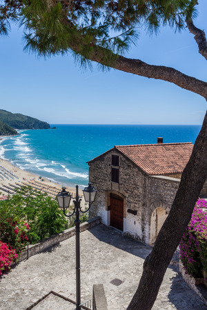 Colorful view of Sperlonga in May, Lazio, Italy.