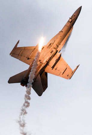f18: F-18 with flares Editorial