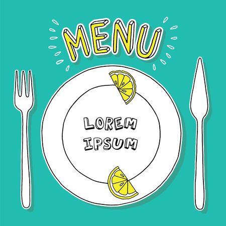 Tableware, pic for menu