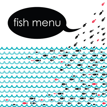 ideal: Ideal vector background for the menu of your fish restaurants.